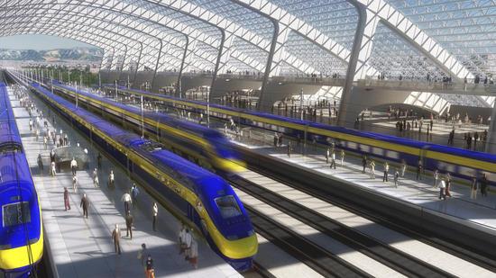美国不受公众欢迎的加州高铁项目动工