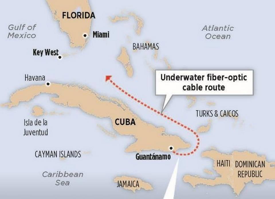 美国-古巴海底光纤电缆项目将于今年底完工