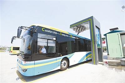 宁波首条超级电容新能源公交车线路顺利投运