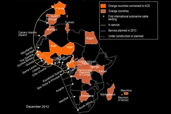 ace海缆系统是连接非洲海岸线国家至欧洲的国际海底通讯电缆系统