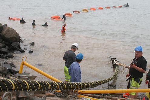 青岛完成首例110kv高压海底电缆施工勘查
