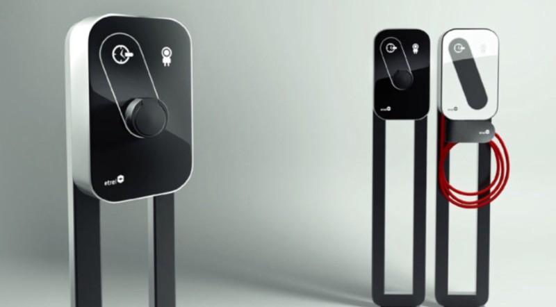 智能汽车充电器亮相德国电动汽车展高清图片