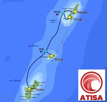 连接关岛和北马里亚纳联邦(cnmi)的海底光缆atisa