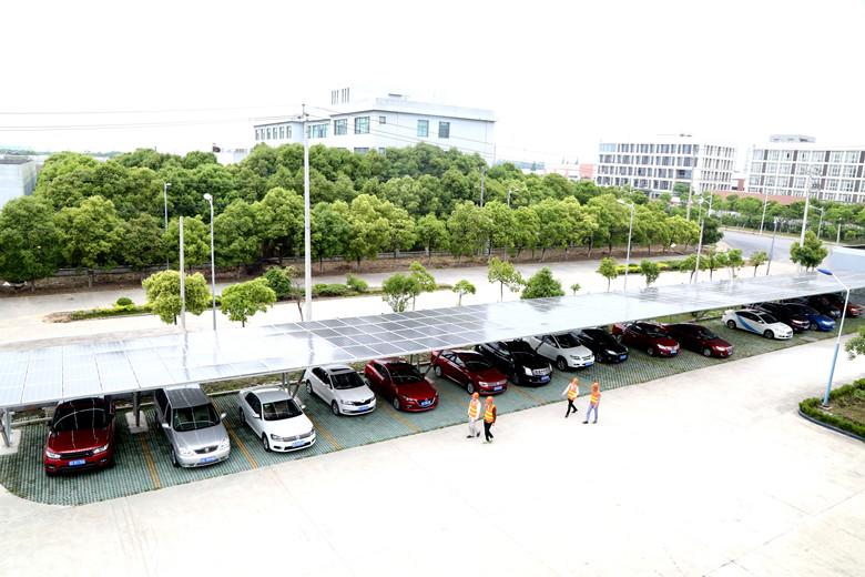 昆山供电调试太阳能绿色车棚光伏项目