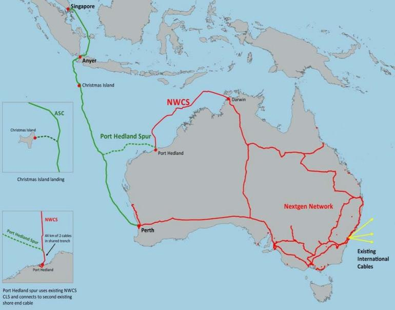 新加坡-澳洲海底光缆系统将于2018年7月投产
