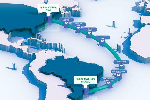 首条圣保罗-纽约直连海底电缆已准备投运