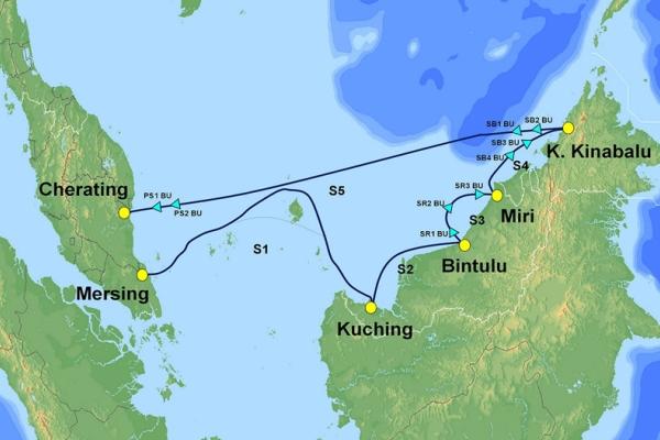 马来西亚SKR1M海底电缆仅25%容量被使用