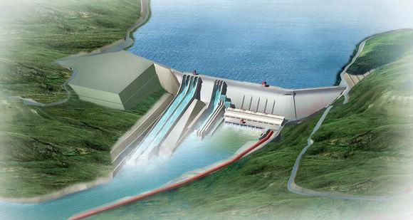 老挝南欧江三级水电站首台机组并网发电