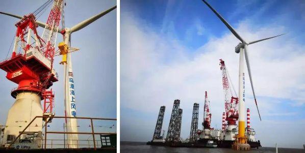 上海临港海上风电机组