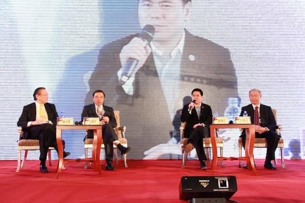 里斯,招商银行行长马蔚华,远东控股集团董事局主席蒋锡培,江淮汽车