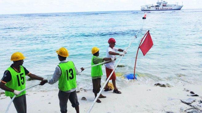 海底电缆铺设出现技术问题